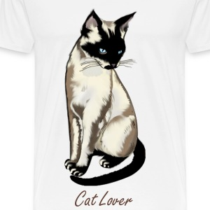 Siamese Cat Art I - Men's Premium T-Shirt