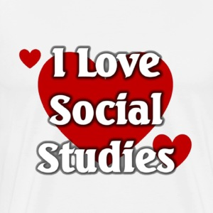 I love social Studies - Men's Premium T-Shirt