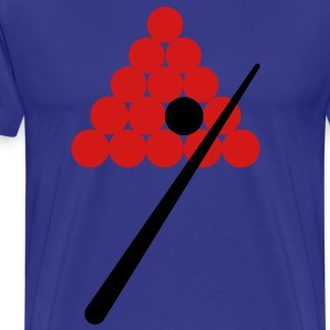 snooker pool balls with 1 cue T-Shirts - Men's Premium T-Shirt