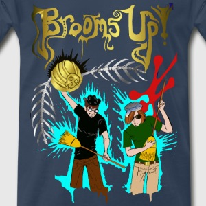 Men's navy Brooms Up shirt - Men's Premium T-Shirt