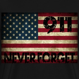 Grunge US Flag 911 T-Shirts - Men's Premium T-Shirt