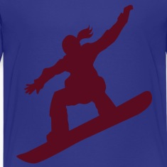 Snowboarding female Kids' Shirts