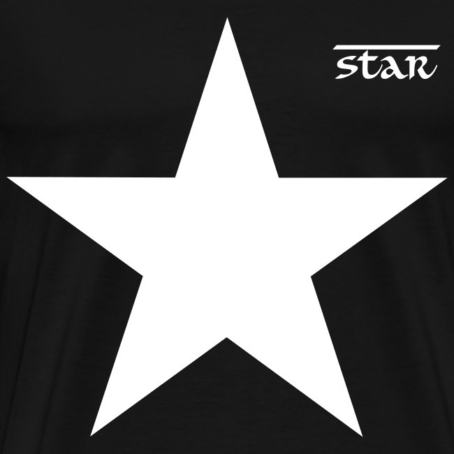 Star Series 2 Casual T-Shirt Black and White
