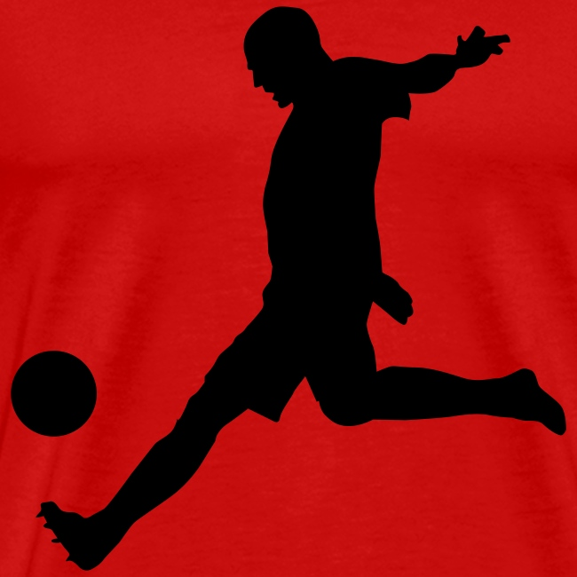 Soccer Shot T-Shirt Red and Black