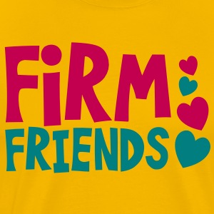 firm friends with love hearts cute font T-Shirts - Men's Premium T-Shirt