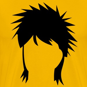 spiked mullet hair style T-Shirts - Men's Premium T-Shirt