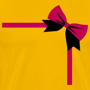 bow package on a rectangle birthday gift T-Shirts - Men's Premium T-Shirt