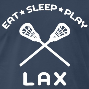 Eat, Sleep, Play Lacrosse T-Shirts - Men's Premium T-Shirt