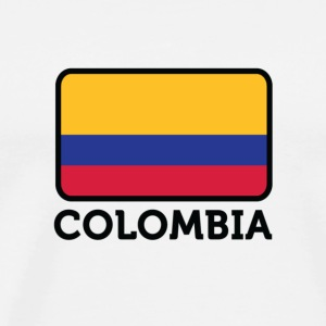 Flag Colombia 2 (dd)++ T-Shirts - Men's Premium T-Shirt