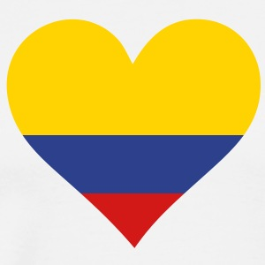 Heart Colombia (3c)++ T-Shirts - Men's Premium T-Shirt