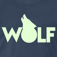 moon WOLF wolves howling design T-Shirts