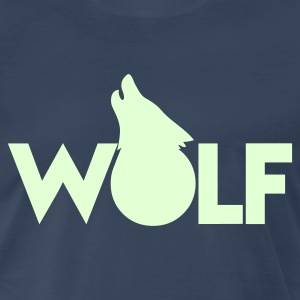 moon WOLF wolves howling design T-Shirts - Men's Premium T-Shirt