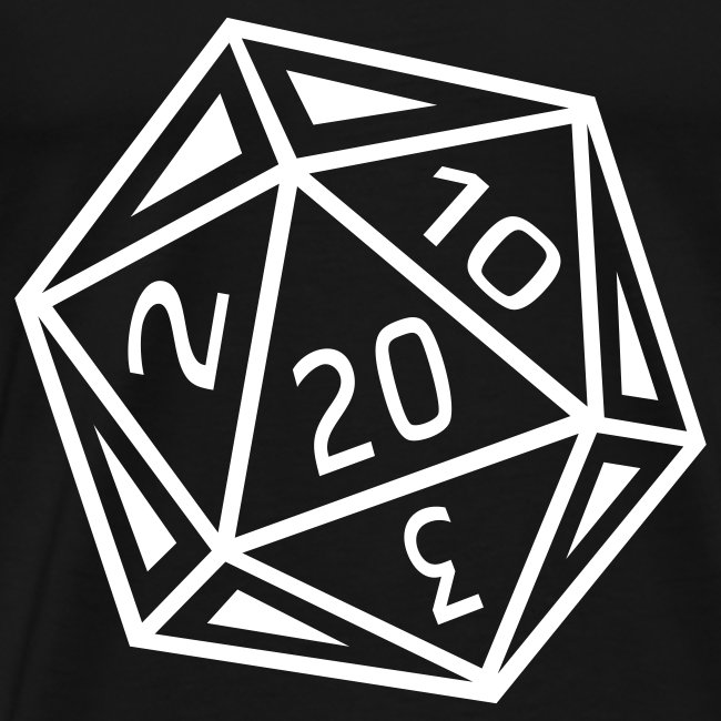 D20 T-Shirt - White Dice