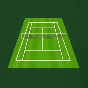 Tennis Court - Men's T-Shirt