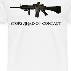 Stops Jihad on Contact M4 T-Shirts - Men's Premium T-Shirt