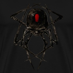 Black Widow Spyder Skull T-Shirts - Men's Premium T-Shirt