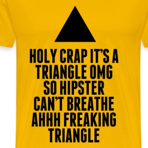 Holy Crap It's A Triangle T-Shirt - Men's Premium T-Shirt