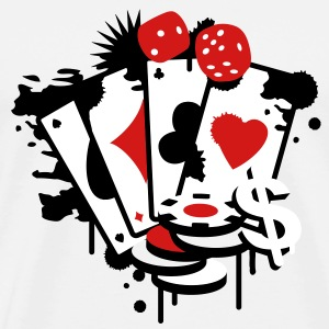 Card game hearts, spades, diamonds, clubs with dice and tokens T-Shirts - Men's Premium T-Shirt