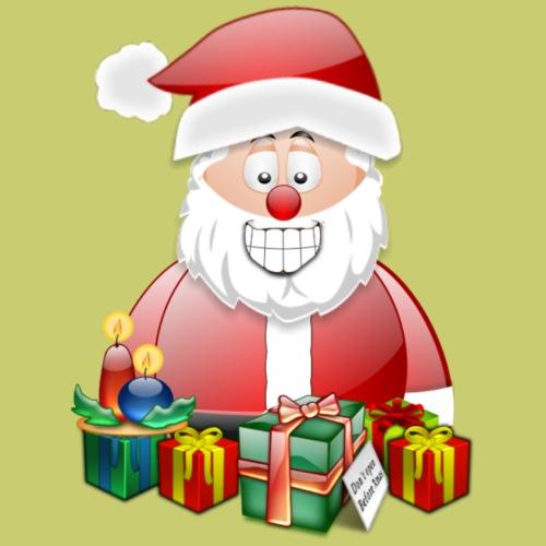 Santa 2 presents and candles