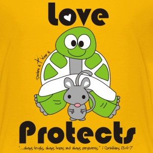 Love Protects Kids' Shirts - Kids' Premium T-Shirt