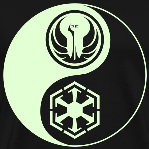 1 Logo - Star Wars The Old Republic - Yin Yang - Glow (3-4XL) - Men's Premium T-Shirt