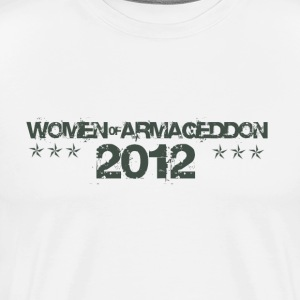Women of Armageddon Logo - Militia Green T-Shirts - Men's Premium T-Shirt