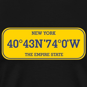 new_york_licence_plate T-Shirts - Men's Premium T-Shirt