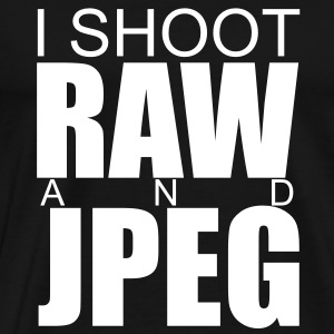 I SHOOT RAW AND JPEG - Men's Premium T-Shirt