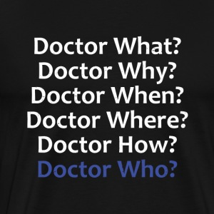 Doctor Who Questions T-Shirts | Robot Plunger - Men's Premium T-Shirt