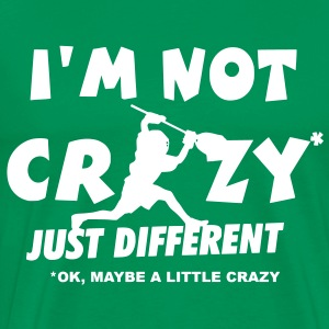 I'm Not Crazy, Lacrosse Goalie T-Shirts - Men's Premium T-Shirt