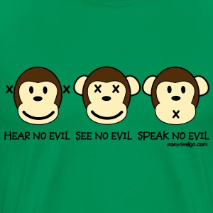 Three Wise Monkeys - Men's Premium T-Shirt