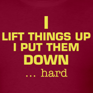 Design ~ I lift things up and put them down! sound the alarm on the back