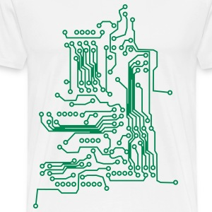 Circuit Board T-Shirts - Men's Premium T-Shirt