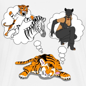 What do tigers dream of? - Men's Premium T-Shirt