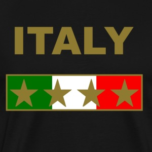 italy_gold_four_Stars T-Shirts - Men's Premium T-Shirt