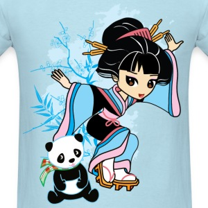 Cartoon Kawaii Geisha Panda Men's T-shirt by Banzai Chicks - Men's T-Shirt