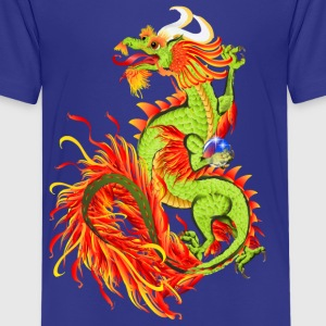 Flaming Dragon-Year Of The Dragon - Kids' Premium T-Shirt