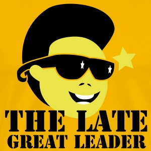 THE LATE GREAT LEADER Kim Jong Il North Korean Dictator T-Shirts - Men's Premium T-Shirt