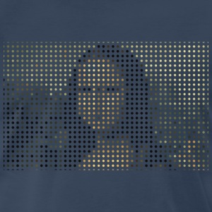 Mona Lisa Dotted T-Shirts - Men's Premium T-Shirt