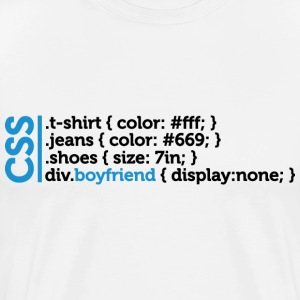 Css Clothes Boyfriend (dd)++ T-Shirts - Men's Premium T-Shirt