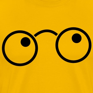 nerdy glasses cute T-Shirts - Men's Premium T-Shirt