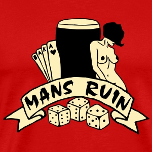 2 col mans ruin pin up girl sex drugs rock n roll T-Shirts - Men's Premium T-Shirt