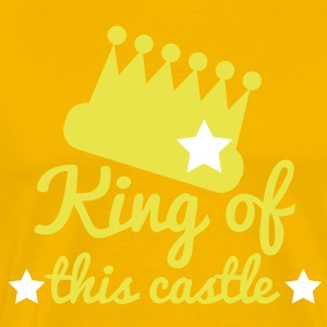 king of this castle with crown and stars T-Shirts - Men's Premium T-Shirt