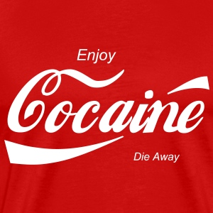 enjoy cocaine T-Shirts - Men's Premium T-Shirt