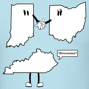 Tri-State Threesome Shirt - Ohio, Indiana and Kentucky  T-Shirts - Men's T-Shirt