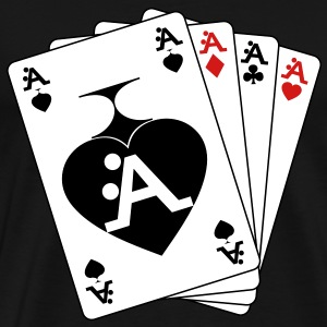 I Love A-Style Poker - Men's Premium T-Shirt