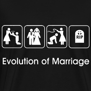 Evolution of Marriage T-Shirts - Men's Premium T-Shirt
