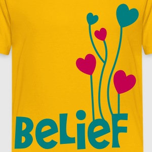 belief with love heart balloons uplifting Kids' Shirts - Kids' Premium T-Shirt