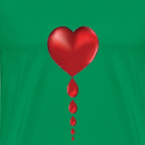 Crying Heart / Bleeding Heart - Men's Premium T-Shirt