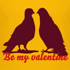 Valentines Dove Couple_2_1c Kids' Shirts